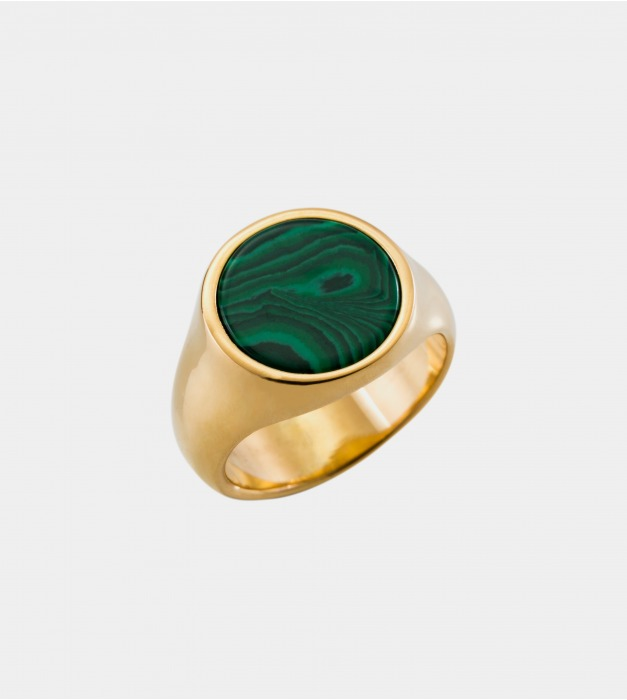 Signet Malachite Ring