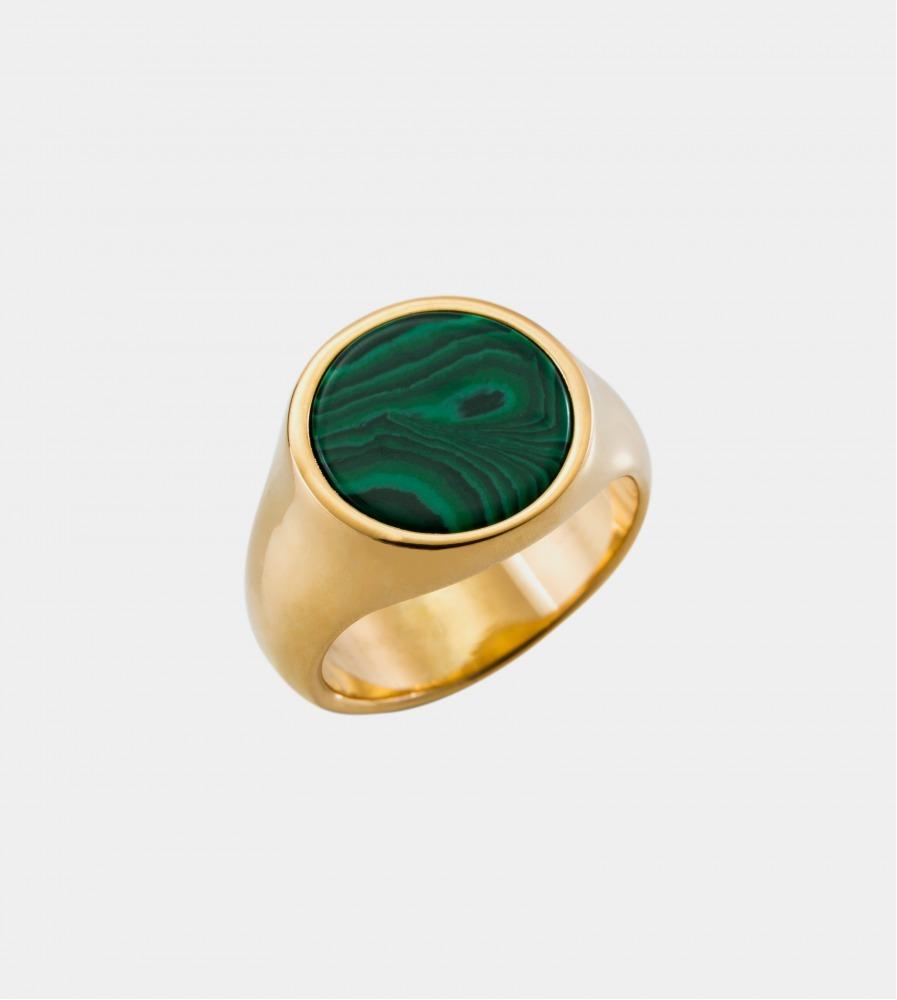 Signet Malachite Ring