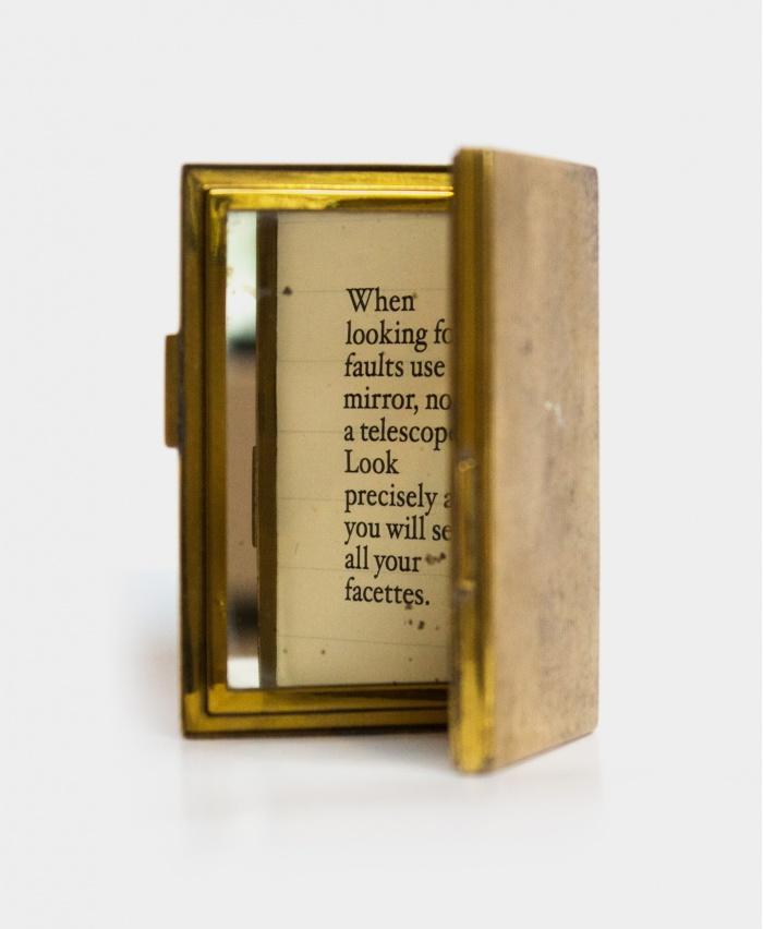 Brass Mirror Vintage 1911