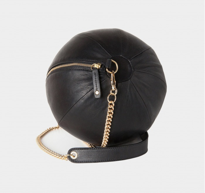 Balloon Bag Black Gold Plated Chain